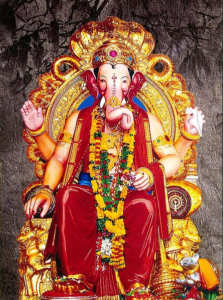 Lord Ganesha as King