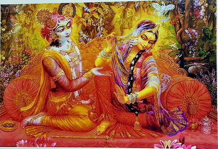 Krishna Placates Abhimanini Radha