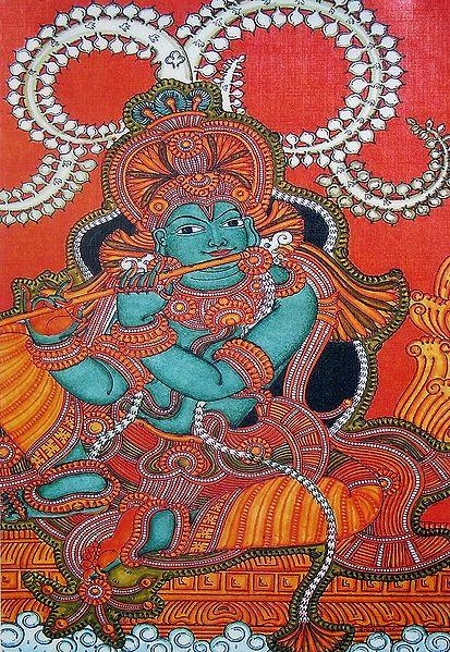 Krishna Playing the Flute