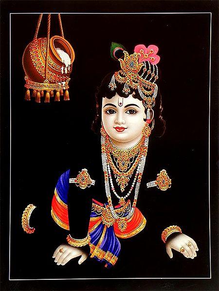 Krishna Prying for Butter