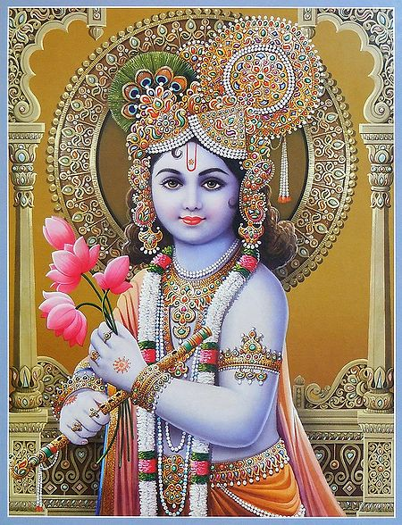 Lord Krishna with Lotus in Hand