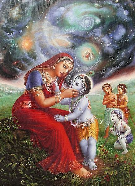 Krishna Showing Vishvarupa to Mother Yashoda