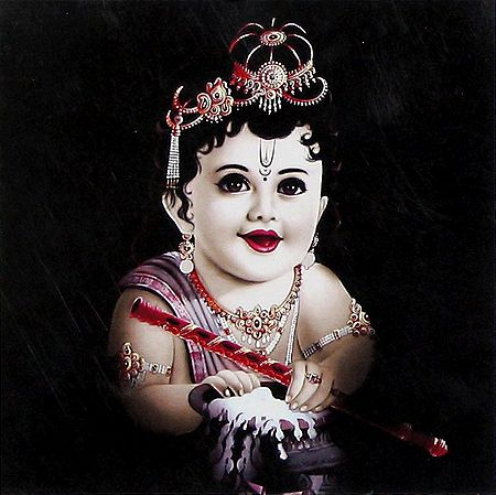 Krishna with Butter