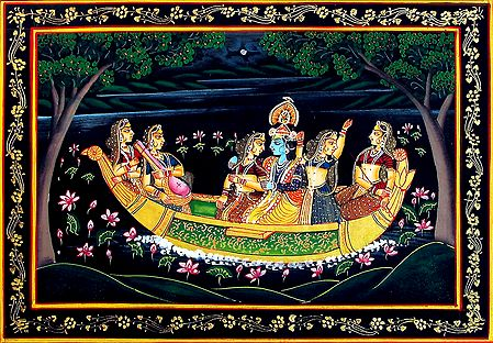 Nauka Vihar of Radha Krishna with Gopinis