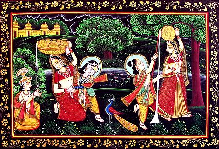 Natkhat Krishna and His Friends