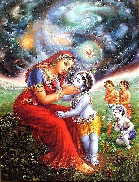 Mother Yashoda with Young Krishna