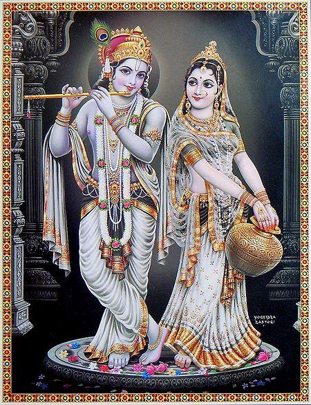 Radha Listening the Sound of Krishna's Flute