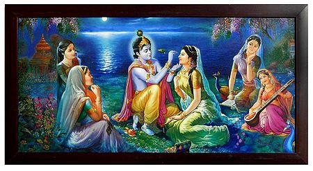 Enchanted Gopinis Watching the Shringar of Radha by Krishna
