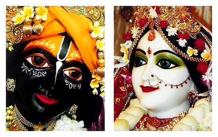 Set of 2 Radha Krishna Picture