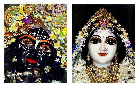 Radha Krishna - Set of 2 Photo Prints