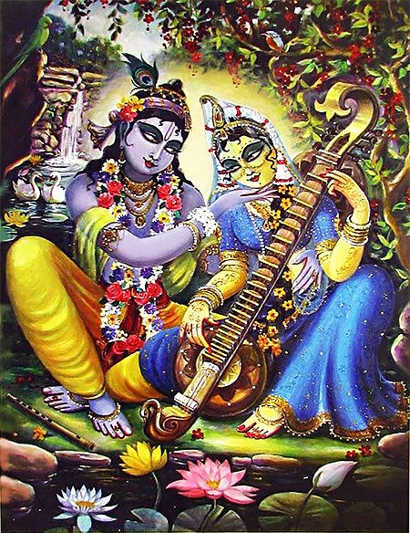 Krishna Admiring Radha