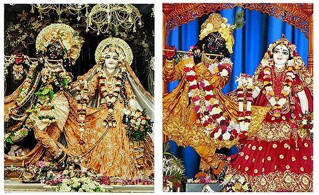 Radha Krishna - Set of 2 Photo Print
