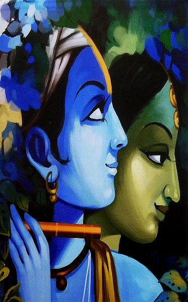 Radha Krishna Poster - The Divine Lovers