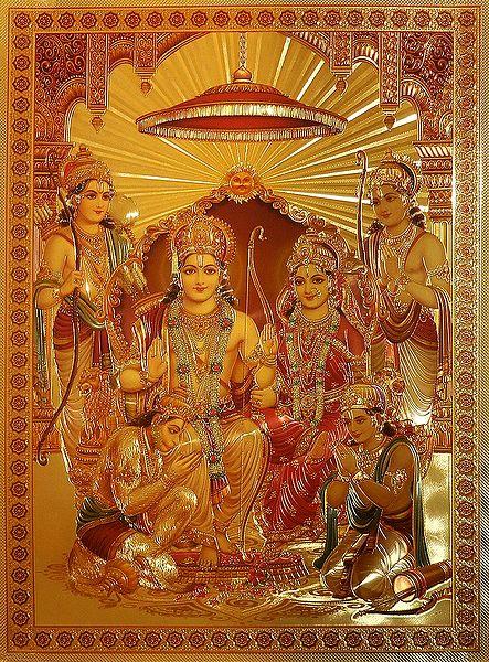 Ram Darbar - Golden Metallic Poster