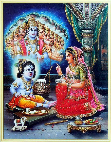 Krishna Showing Vishvaroop to Maa Yashoda