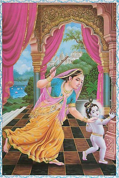 Yashoda and Natkhat Krishna