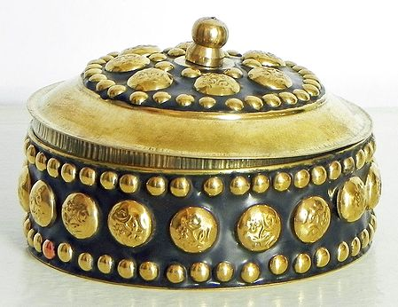 Brass Kumkum Container