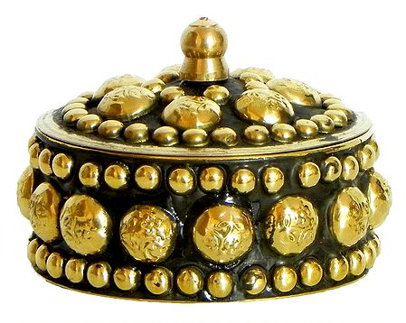 Brass Kumkum Container