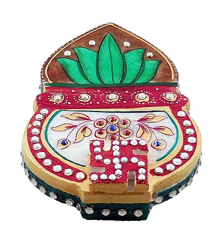 Marble Kumkum Container with Kalash