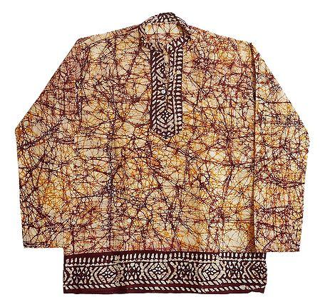Batik Short Kurta for Men