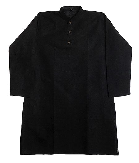 Black Cotton Kurta for Men