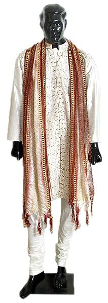 Mens Designer Churidar Kurta with Embroidery