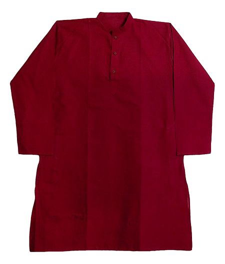 Red Cotton Kurta for Men