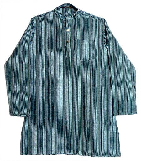 Multicolor Striped Full Sleeve Kurta for Men