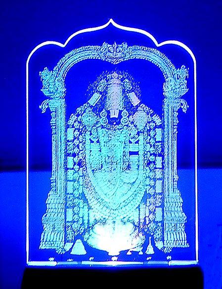 Balaji Plug-on Color Changing Night Lamp with Adaptor