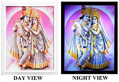 Radha Krishna Plug-on Night Lamp with Adaptor