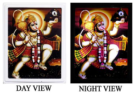 Lord Hanuman Plug-on Night Lamp with Adaptor