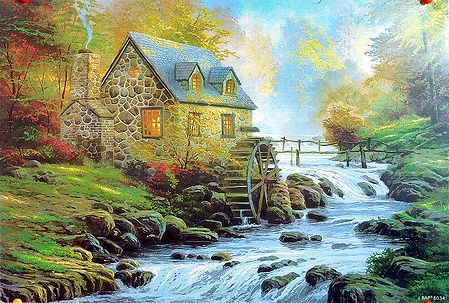 Beautiful House Near a Stream