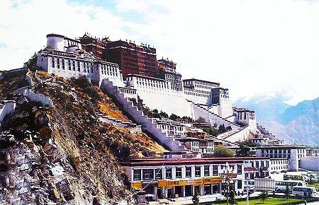 Potala Palace in Lhasa - Tibet