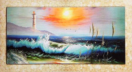 Sunrise Near Lighthouse