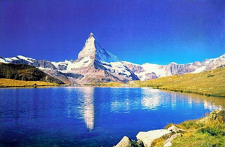 Matterhorn Peak from Zermatt, Switzerland