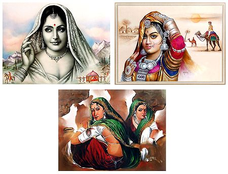 Indian Beauties - Set of 3 Posters