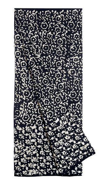 Black and White Batik Cotton Lungi for Men