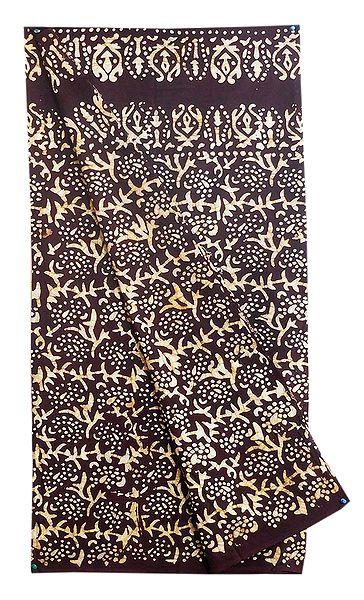 Brown with Off-White Batik Cotton Lungi