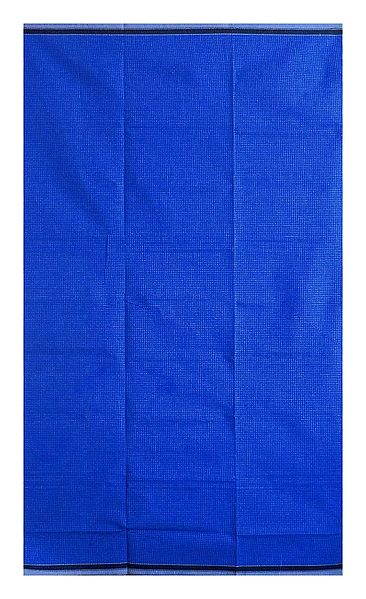 Small White Check on Blue Cotton Lungi