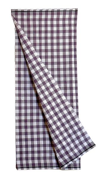 Dark Mauve and White Check Cotton Mens Lungi