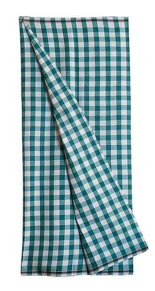 Dark Cyan and White Check Cotton Mens Lungi