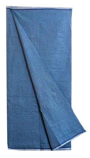 Blue Check Cotton Lungi