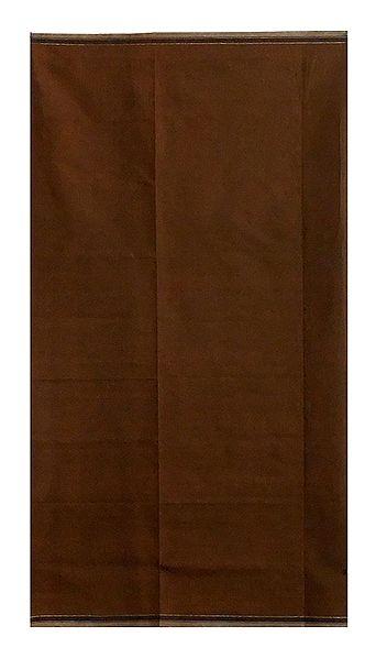 Dark Brown Plain Cotton Lungi