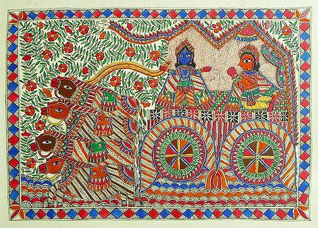 Gita Updesh By Krishna To Arjuna in the Battle of Kurukshetra
