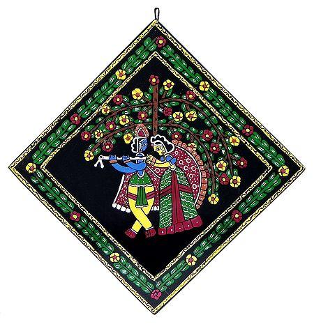 Radha Krishna under Kadamba Tree - Wall Hanging