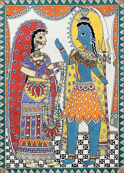Wedding of Lord Shiva and Parvati