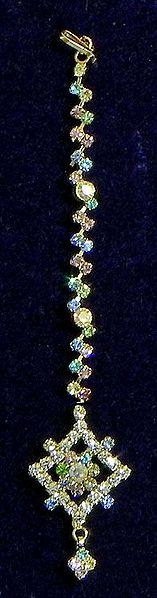 Multicolor Stone Studded Mang Tika