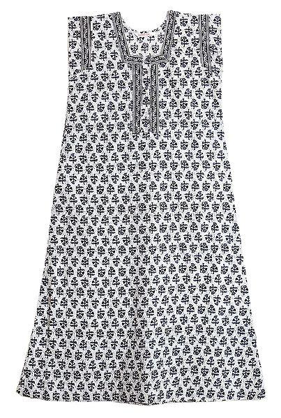 Black and White Print on Cotton Maxi