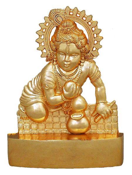 Metal Krishna for Car Dashboard
