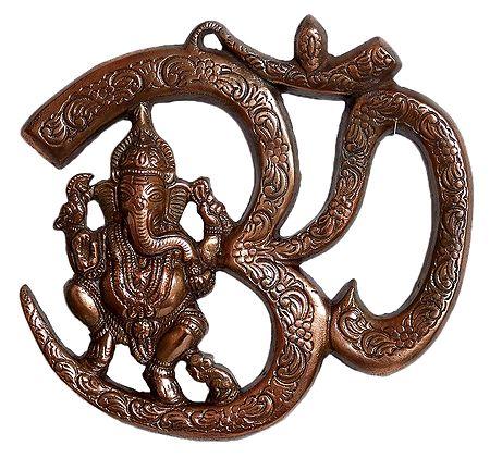 Ganesha Sitting on Om - Wall Hanging